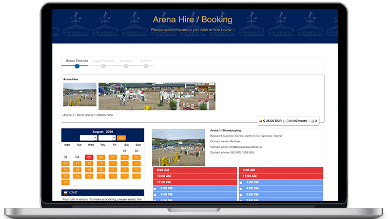 Equestrian Centre - Online Booking System