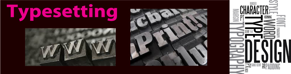 Typesetting / Artworking